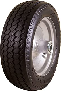 "Marathon 4.10/3.50-4"" Flat Free, Hand Truck / All-Purpose Utility Tire on Wheel,.."