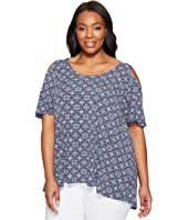 Karen Kane Plus - Plus Size Hi Lo Cold Shoulder Top