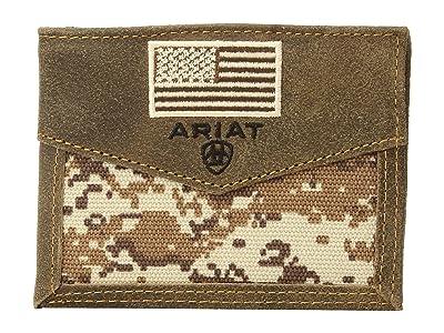 Ariat Sport Patriot Bifold Wallet (Medium Brown) Wallet Handbags