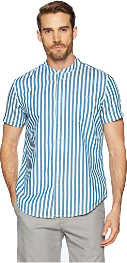 Short Sleeve Cruize Stripe Button Down with Pocket