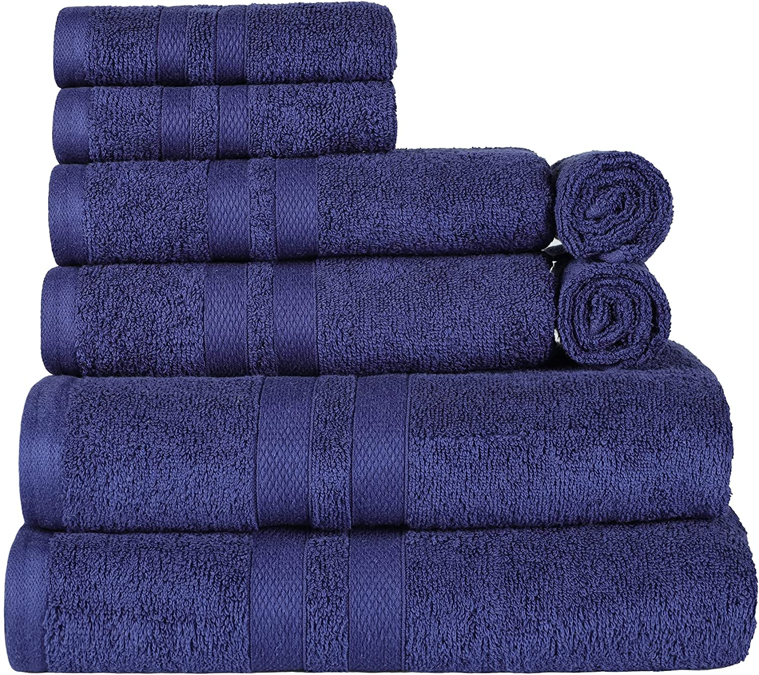 SUPERIOR Cotton Quick Drying 8-Piece Towel low-pricing Solid Indianapolis Mall Washcloths Set