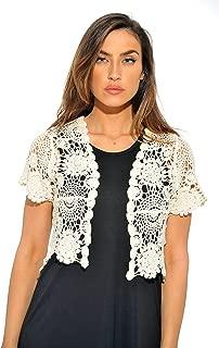 Bolero Shrug Floral Crochet Women Cardigan