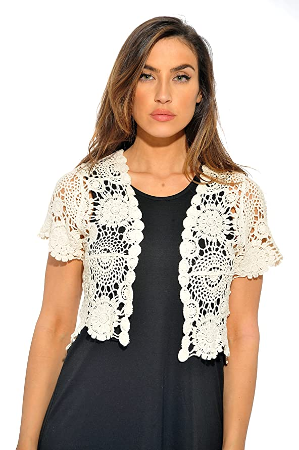 Just Love Bolero Shrug/Floral Crochet Women Cardigan