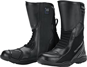 Tour Master Solution WP Air Road Mens Leather Sports Bike Motorcycle Boots - Black/Size 12.5W
