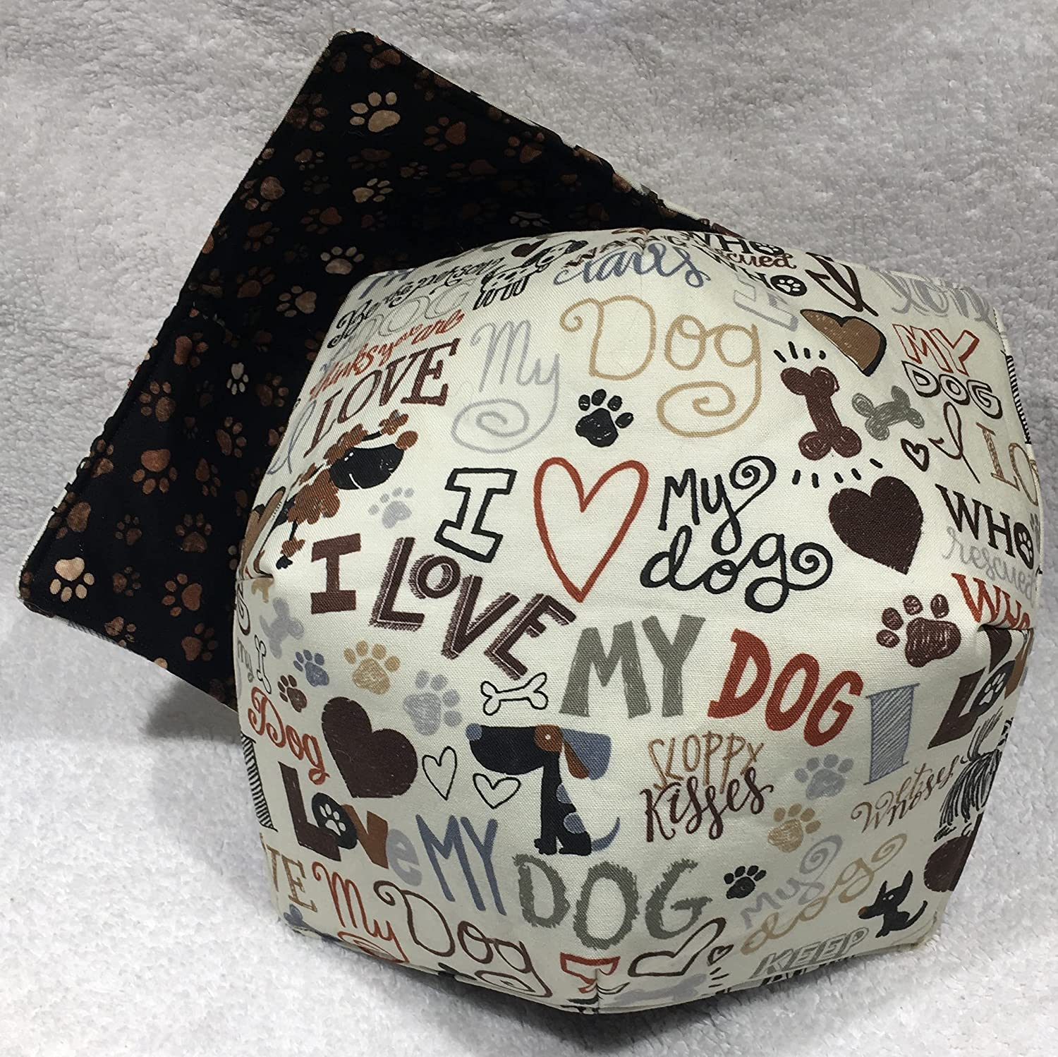 I Love Bargain sale My Dog Max 87% OFF Microwave brown Cozy Bowl