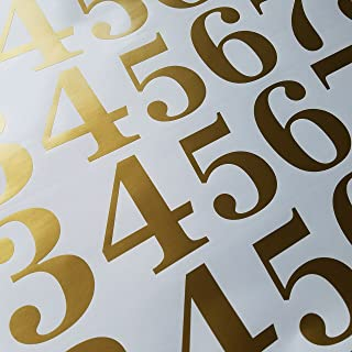 Classic Style Die Cut Vinyl Numbers (2 inch Soft Metallic Gold)