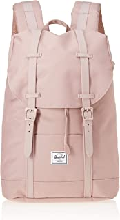 Herschel 10329-02077-OS Retreat Backpack, Ash Rose/Ash Rose Rubber, Mid-Volume 14.0L