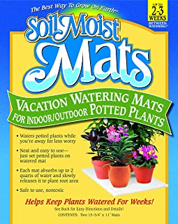 Soil Moist Vacation Watering Mats for Indoor / Outdoor Potted Plants, Pack of 2