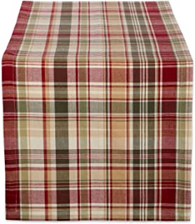 Cabin Plaid 100% Cotton Table Runner (14x72