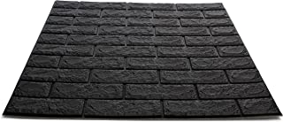 Craft Faux Brick Wall Panels - Peel and Stick Foam Brick - 3D Wall Panels for Fake Brick Wall - Self Adhesive Brick Wall Panels - 3D Brick Wallpaper (20 Pack, Black)