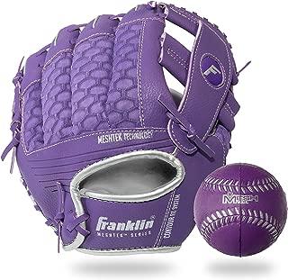 Franklin Sports Teeball Glove and Ball Set - Meshtek Teeball Glove and Foam Baseball - 9.5