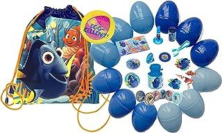 UPD Disney Pixar Finding Dory Kids Toy-Filled Easter Eggs & Matching Dory Egg Hunt Loot Bag! Plus Bonus Kids Holographic Holiday Pin!