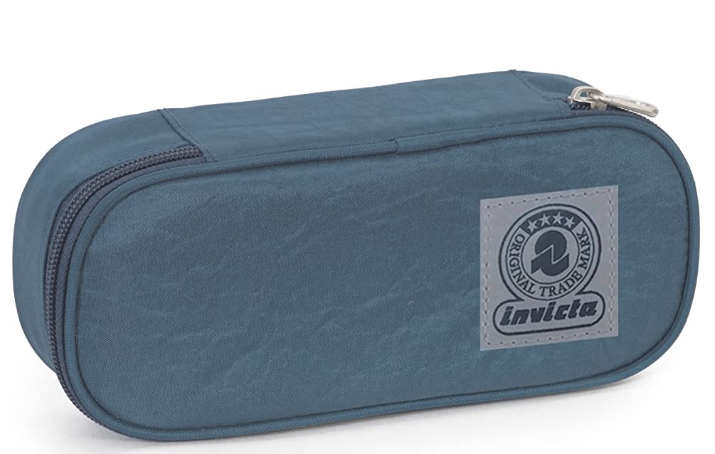 Pencil Bag Round INVICTA - LOGO - Internal Organizer - Blue 0,7Lt