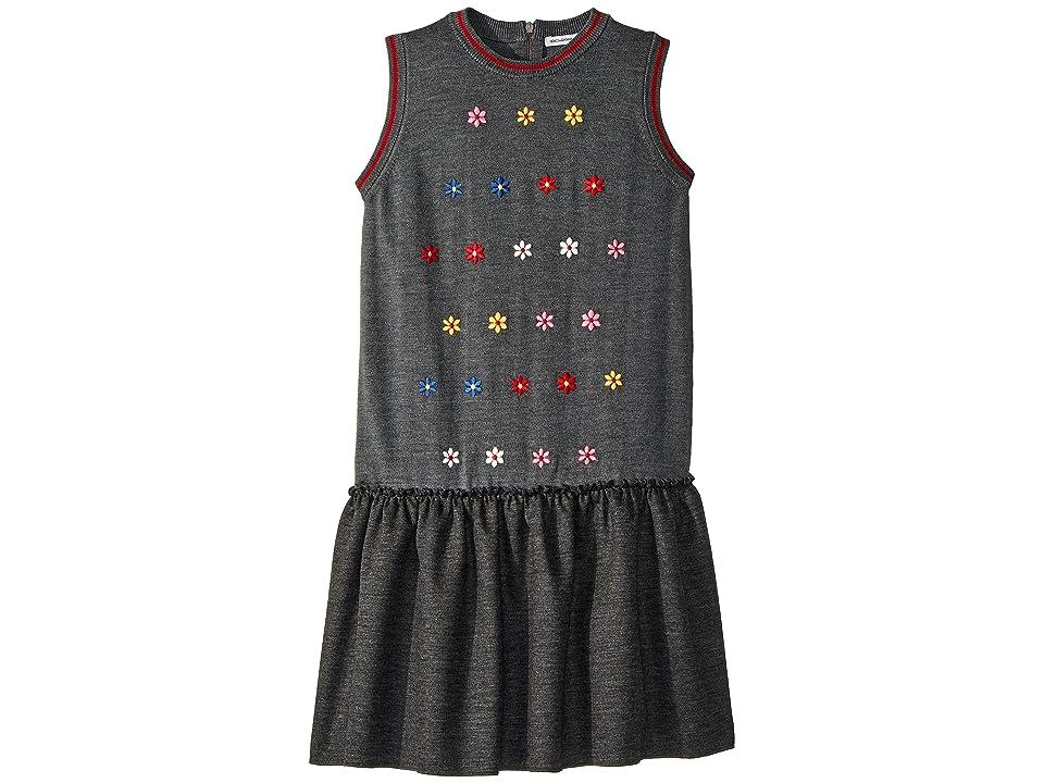 Dolce & Gabbana Kids Knit Dress (Big Kids) (Grey Melange) Girl