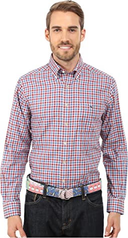 Heathered Gingham Slim Tucker Shirt