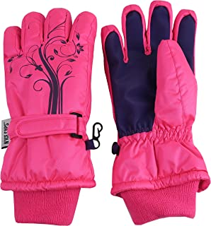 N'Ice Caps Girls Ombre Shaded Waterproof Thinsulate Winter Snow Ski Gloves