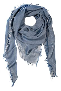 GIULIA BIONDI 100% made in Italy 100% Organic Cotton Natural Colors Square Scarf Shawl Wrap Soft Lightweight Women Men