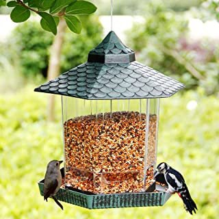 Twinkle Star Wild Bird Feeder Hanging for Garden Yard Outside Decoration, Hexagon Shaped..