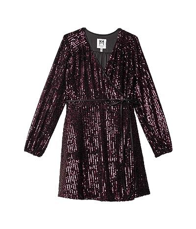Milly Minis Siena Stretch Micro Sequin Wrap Dress (Big Kids) Girl