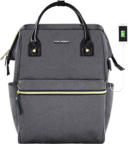 KROSER Laptop Backpack Stylish College Computer Backpack Fits Up to 15.6 Inch Laptop Water-Repellent Doctor Bag Casua...