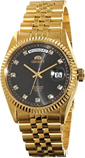 "ORIENT ""President"" Classic Automatic Sapphire Gold Watch Black Dial EV0J001B"
