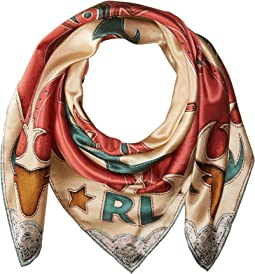 Flame Silk Scarf