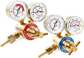 Biltek Dual Gauge Oxygen & Acetylene Solid Brass Regulator for Welding Victor Gas..