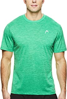 HEAD Men's Crewneck Gym Training & Workout T-Shirt - Short Sleeve Activewear Top - Spacedye Celtic Green Heather, 2X