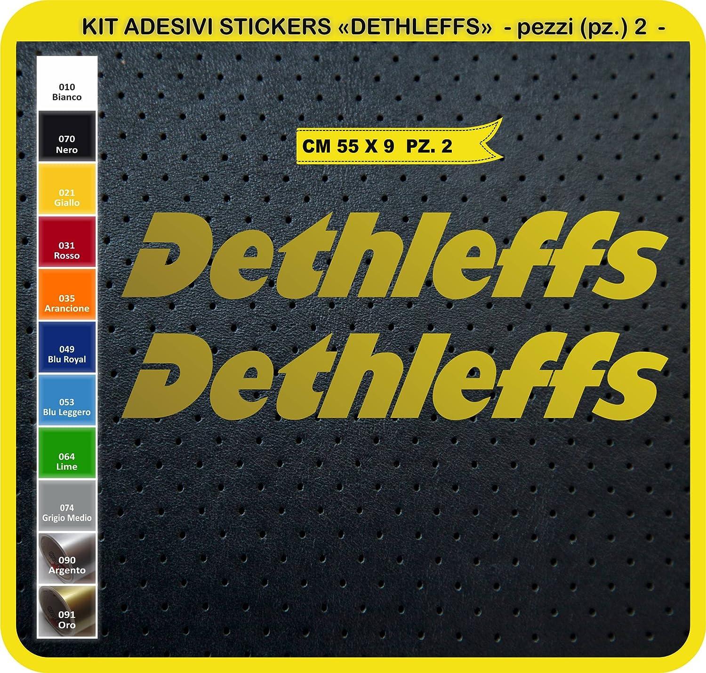 Aufkleber Set Stickers Dethleffs 02 Aufkleber Für Auto Und Auto Wohnmobil 0741 035 Arancione Sport Freizeit