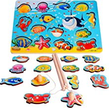 Magnetic Fishing Game Toy for 1 2 3 4 Year Old Boy Girl with 2 Fishing Rods 14pcs Fish Magnet Game Fishing Games Baby Toddler Toys Animal Shape Sorter Preschool Learning Toy Educational Toy Travel Toy