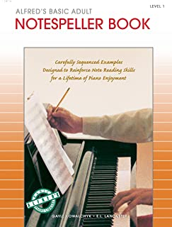 Alfred's Basic Adult Piano Course Notespeller, Bk 1: