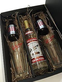Stolichnaya Vodka Set/Geschenkset - Stolichnaya Vodka 500ml 40% Vol  2x Gläser  2x Effect Energy Drink 200ml