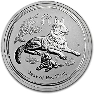 2018 AU Australia 1/2 oz Silver Lunar Dog BU 1/2 OZ Brilliant Uncirculated