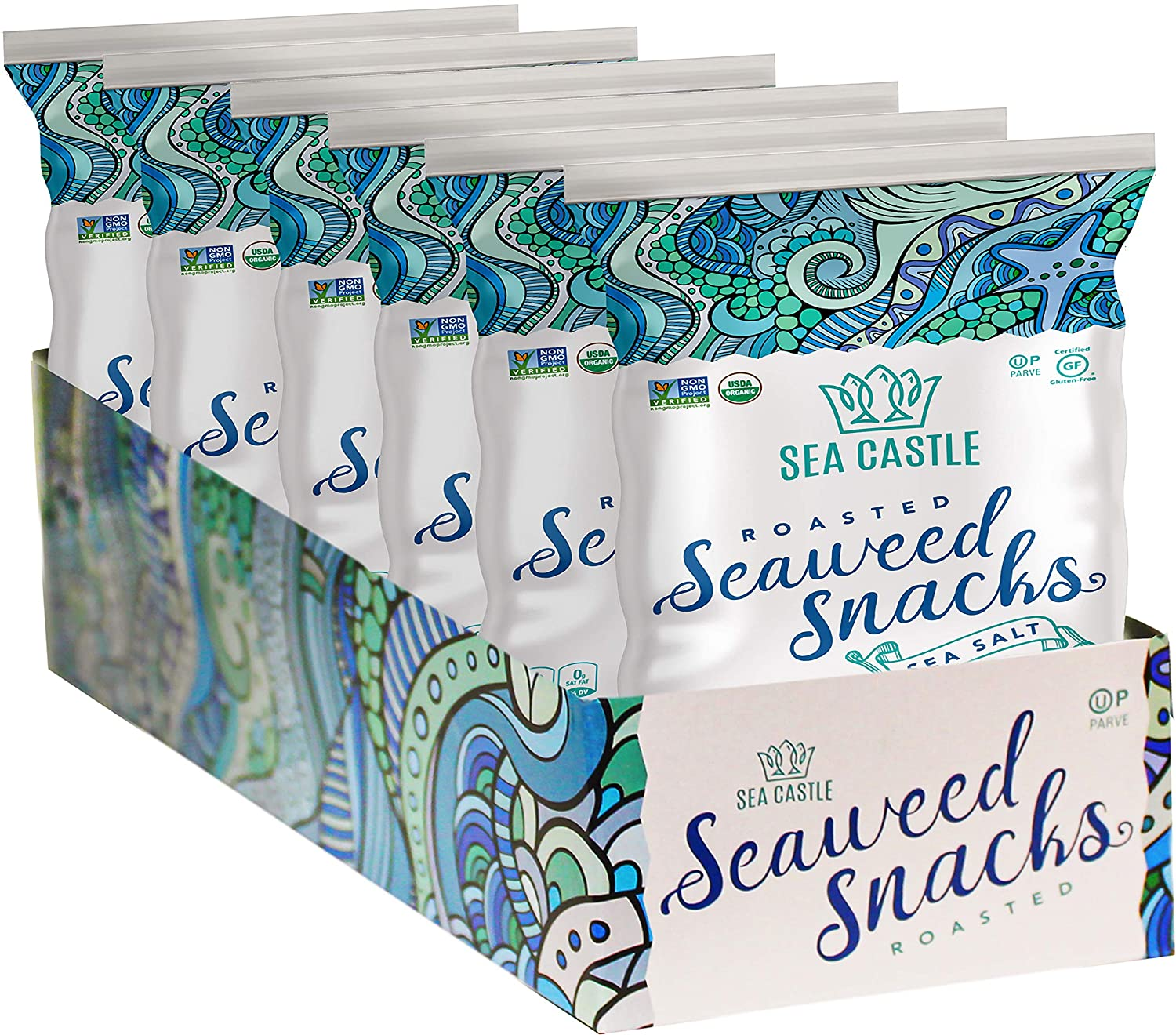 Sea Castle Organic Roasted Seaweed .35 Oz. Snack Mesa Opening large release sale Mall Salt with