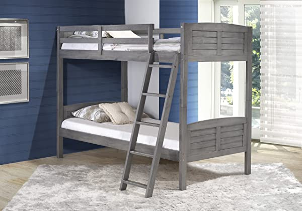 Donco Kids 2010Ttag Louver Bunk Bed Twin Twin Antique Gray