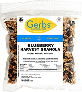 Gerbs Cape Cod Blueberry Granola, 4 LBS By Gerbs - Top 14 Food Allergy Free & NON GMO - Preservative Free & Kosher - Made in Rhode Island