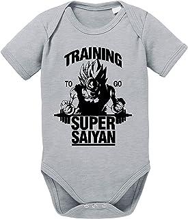 Goku SS Body Dragon de algodón orgánico Ball Son Proverbs Baby Romper para niños y niñas de 0 a 12