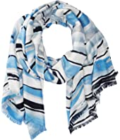 Calvin Klein - Watercolor Stripe Printed Pashmina