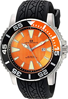 Oceanaut Men's 'Marletta' Quartz Stainless Steel and Silicone Watch, Color:Black (Model: OC2915)