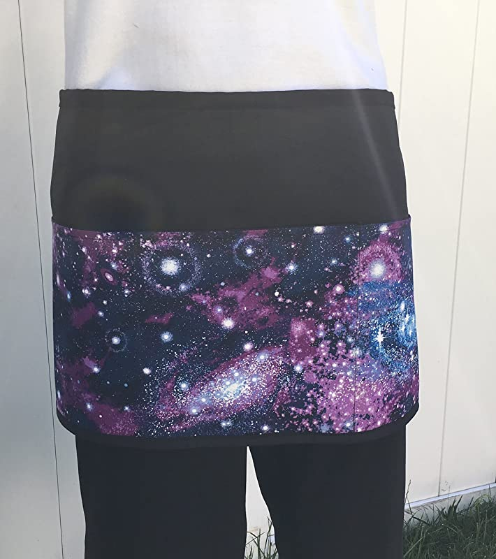 Waitress Waiter Or Server Space Apron 3 Pockets Black Half Apron Kitchen Cooking Crafts And Restaurants Janet S Apron S Click Here And Scroll Down To See Almost 300 Different Aprons