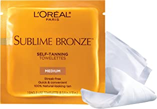 l'oreal sublime bronze self tanning towelettes