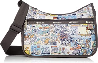 LeSportsac Tom and Jerry, Comic Classic Hobo Crossbody Handbag + Cosmetic Bag, Style 7520/Color K778 (Retro Comic Strip)