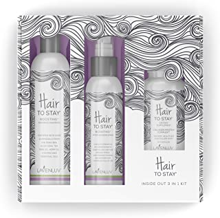 Lavenluv Hair to Stay Hair Care Set - 3 Piece Kit Including Organic Shampoo with Essential Oils, Vitamin Su...