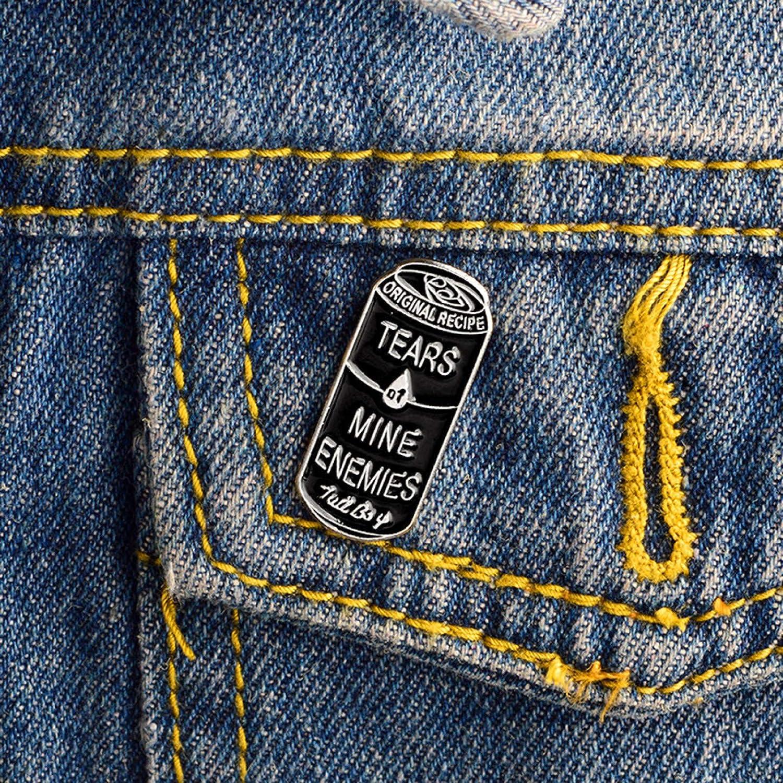 Pin Badge Animal De Dibujos Animados Alpaca Esmalte Collar Camisa Pin Insignia Broche Joyer/ía Para Mujeres Blanco