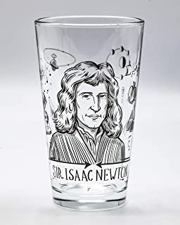 Cognitive Surplus Heroes of Science: Isaac Newton Pint Glass