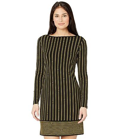 MICHAEL Michael Kors Petite Stripe Chain Long Sleeve Border Dress Women