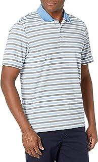 Cutter & Buck Mens Moisture Wicking Drytec UPF 50+ Murray Stripe Polo Shirt Short Sleeve Polo Shirt