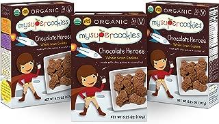 MySuperCookies, Chocolate Heroes (Organic, Whole Grain & Nut Free) 6.25oz (3 Pack)
