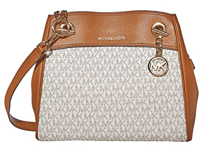 MICHAEL Michael Kors Jet Set Chain Legacy Medium Convertible Shoulder (Vanilla/Acorn) Shoulder Handbags