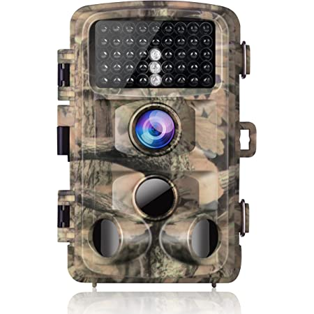 "Campark Trail Camera-Waterproof 16MP 1080P Game Hunting Scouting Cam with 3 Infrared Sensors for Wildlife Monitoring with 120°Detecting Range Motion Activated Night Vision 2.4"" LCD 42pcs"